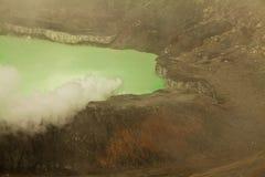 Εθνικό ηφαίστειο Poas πάρκων στη Κόστα Ρίκα Στοκ εικόνες με δικαίωμα ελεύθερης χρήσης