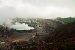 Εθνικό ηφαίστειο Poas πάρκων στη Κόστα Ρίκα Στοκ Εικόνες