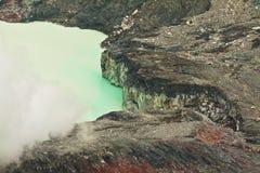 Εθνικό ηφαίστειο Poas πάρκων στη Κόστα Ρίκα Στοκ Φωτογραφίες
