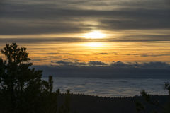Εθνικό ηλιοβασίλεμα πάρκων φαραγγιών βασιλιάδων Στοκ εικόνα με δικαίωμα ελεύθερης χρήσης