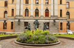 Εθνικό θέατρο στο Όσλο Στοκ Φωτογραφία