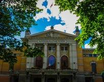 Εθνικό θέατρο στο Όσλο Στοκ φωτογραφίες με δικαίωμα ελεύθερης χρήσης