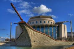 εθνικό θέατρο της Βουδαπέστης Στοκ εικόνα με δικαίωμα ελεύθερης χρήσης