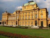 Εθνικό θέατρο της Κροατίας Στοκ φωτογραφία με δικαίωμα ελεύθερης χρήσης