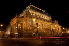 εθνικό θέατρο της Πράγας Στοκ Εικόνες