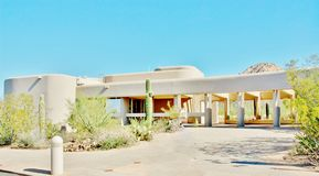 Εθνικό κέντρο επισκεπτών πάρκων Saguaro Στοκ φωτογραφία με δικαίωμα ελεύθερης χρήσης