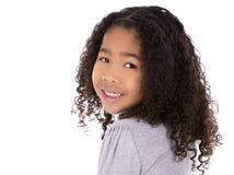 Εθνικό κορίτσι στο άσπρο υπόβαθρο Στοκ Εικόνες