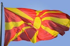 εθνικό λευκό της Μακεδονίας απεικόνισης σημαιών ανασκόπησης Στοκ εικόνα με δικαίωμα ελεύθερης χρήσης