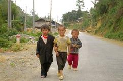εθνικό λευκό hmong παιδιών Στοκ Εικόνες