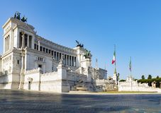 Εθνικό μνημείο ένα Vittorio Emanuele ΙΙ Στοκ φωτογραφία με δικαίωμα ελεύθερης χρήσης