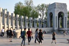 Εθνικό μνημείο Δεύτερου Παγκόσμιου Πολέμου στην Ουάσιγκτον, συνεχές ρεύμα Στοκ εικόνες με δικαίωμα ελεύθερης χρήσης