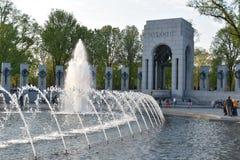 Εθνικό μνημείο Δεύτερου Παγκόσμιου Πολέμου στην Ουάσιγκτον, συνεχές ρεύμα Στοκ Φωτογραφίες