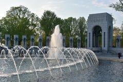 Εθνικό μνημείο Δεύτερου Παγκόσμιου Πολέμου στην Ουάσιγκτον, συνεχές ρεύμα Στοκ εικόνα με δικαίωμα ελεύθερης χρήσης