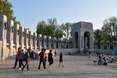 Εθνικό μνημείο Δεύτερου Παγκόσμιου Πολέμου στην Ουάσιγκτον, συνεχές ρεύμα Στοκ φωτογραφία με δικαίωμα ελεύθερης χρήσης