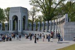 Εθνικό μνημείο Δεύτερου Παγκόσμιου Πολέμου στην Ουάσιγκτον, συνεχές ρεύμα Στοκ Εικόνα