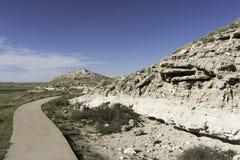 Εθνικό μνημείο κρεβατιών αχατών απολιθωμένο Στοκ Εικόνες