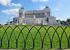 Εθνικό μνημείο σε Victor Emmanuel ΙΙ, Ρώμη στοκ εικόνες