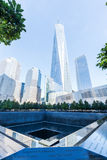 Εθνικό μνημείο στις 11 Σεπτεμβρίου στο Λόουερ Μανχάταν, πόλη της Νέας Υόρκης Στοκ Εικόνες