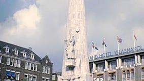Εθνικό μνημείο του Άμστερνταμ απόθεμα βίντεο