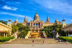 Εθνικό Μουσείο Τέχνης της Καταλωνίας, Βαρκελώνη, Ισπανία Στοκ Εικόνες