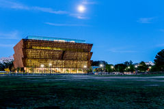 Εθνικό Μουσείο της ιστορίας και του πολιτισμού αφροαμερικάνων κάτω από ομο Στοκ Φωτογραφίες