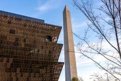 Εθνικό Μουσείο της ιστορίας και του πολιτισμού αφροαμερικάνων κάτω από ομο Στοκ εικόνες με δικαίωμα ελεύθερης χρήσης