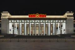 Εθνικό Μουσείο της Κίνας τη νύχτα, Πεκίνο, Κίνα Στοκ Φωτογραφίες