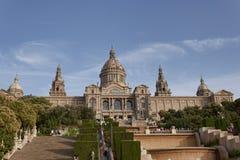 Εθνικό Μουσείο της τέχνης της Καταλωνίας στη Βαρκελώνη Στοκ Φωτογραφία