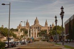 Εθνικό Μουσείο της τέχνης της Καταλωνίας στη Βαρκελώνη Στοκ εικόνα με δικαίωμα ελεύθερης χρήσης