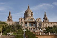 Εθνικό Μουσείο της τέχνης της Καταλωνίας στη Βαρκελώνη Στοκ Εικόνες