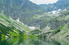 Εθνικό πάρκο Άποψη της μπλε λίμνης στα βουνά Στοκ Εικόνες