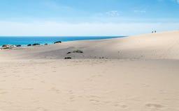 Εθνικό πάρκο αμμόλοφων σε Corralejo, Fuerteventura Στοκ εικόνες με δικαίωμα ελεύθερης χρήσης