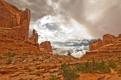 εθνικό πάρκο ΗΠΑ Utah αψίδων Στοκ Φωτογραφία