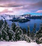 Εθνικό πάρκο λιμνών κρατήρων Στοκ φωτογραφία με δικαίωμα ελεύθερης χρήσης