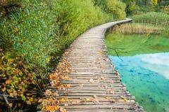Εθνικό πάρκο λιμνών Plitvice το φθινόπωρο, Κροατία Στοκ Εικόνα