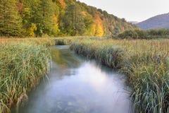 Εθνικό πάρκο λιμνών Plitvice το φθινόπωρο, Κροατία Στοκ εικόνες με δικαίωμα ελεύθερης χρήσης