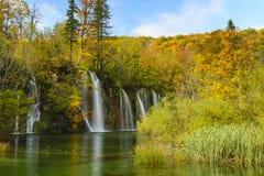 Εθνικό πάρκο λιμνών Plitvice το φθινόπωρο, Κροατία Στοκ φωτογραφίες με δικαίωμα ελεύθερης χρήσης
