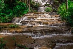 Εθνικό πάρκο καταρρακτών τοπίων namtok pacharogn, Tak Ταϊλάνδη Στοκ Εικόνες