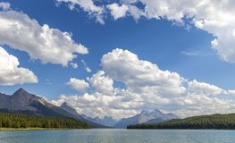 εθνικό πάρκο λιμνών ιασπίδων του Καναδά maligne Στοκ Φωτογραφία