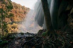 Εθνικό πάρκο λιμνών Plitvice το φθινόπωρο - Κροατία Στοκ φωτογραφία με δικαίωμα ελεύθερης χρήσης