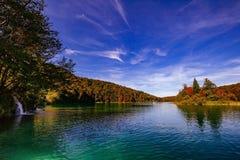 Εθνικό πάρκο λιμνών Plitvice το φθινόπωρο, Κροατία Στοκ Εικόνες
