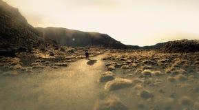 Εθνικό πάρκο πεζοπορίας Νέα Ζηλανδία Tongariro Στοκ φωτογραφία με δικαίωμα ελεύθερης χρήσης