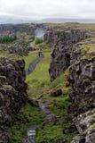 εθνικό πάρκο της Ισλανδίας thingvellir Στοκ Εικόνες