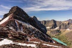 εθνικό πάρκο της Μοντάνα παγετώνων Λήφθείτε σε μια ανάβαση της ΑΜ Siyeh στοκ εικόνα