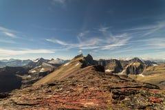 εθνικό πάρκο της Μοντάνα παγετώνων Λήφθείτε σε μια ανάβαση της ΑΜ Siyeh στοκ εικόνες με δικαίωμα ελεύθερης χρήσης