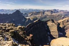 εθνικό πάρκο της Μοντάνα παγετώνων Λήφθείτε σε μια ανάβαση της ΑΜ Siyeh στοκ φωτογραφίες