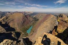 εθνικό πάρκο της Μοντάνα παγετώνων Λήφθείτε σε μια ανάβαση της ΑΜ Siyeh στοκ φωτογραφία