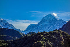 Εθνικό πάρκο της Νέας Ζηλανδίας - Aoraki - τοποθετήστε Cook Στοκ Φωτογραφίες