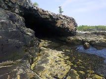 εθνικό πάρκο του Maine σπηλιών an Στοκ Φωτογραφία