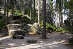 Εθνικό πάρκο των βράχων adrspach-Teplice Πόλη βράχου Στοκ εικόνες με δικαίωμα ελεύθερης χρήσης